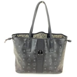 MCM Liz Medium Black Reversible Tote